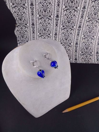 Image sur Bourgeon Boucles d'oreilles Bleues